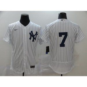 New York Yankees Mickey Mantle White Jersey